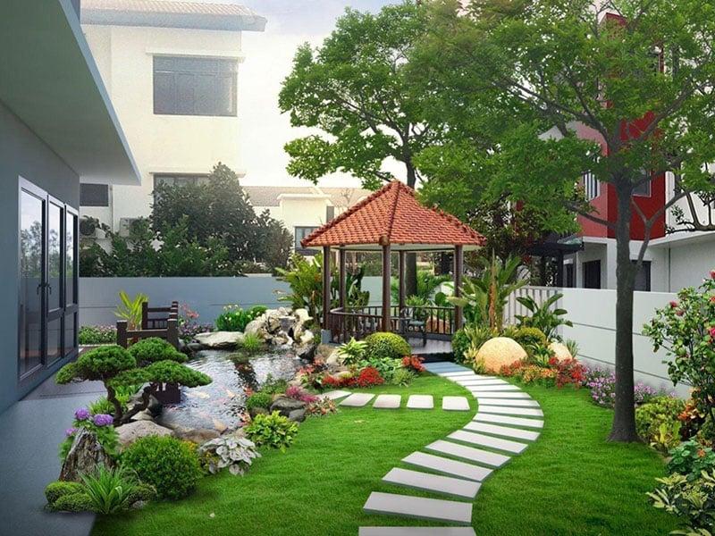 Deluxe garden house aqua city